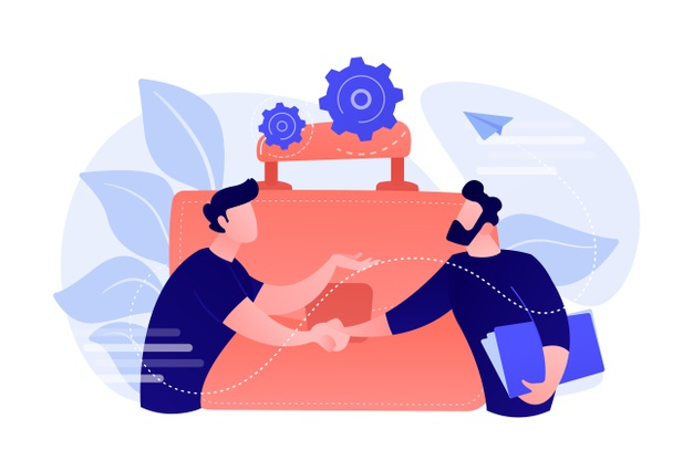 two-business-partners-shaking-hands-big-briefcase-partnership-agreement-cooperation-deal-completed-concept-white-background_335657-1643